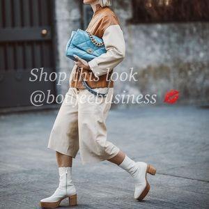 H&M Leather Platform Boots